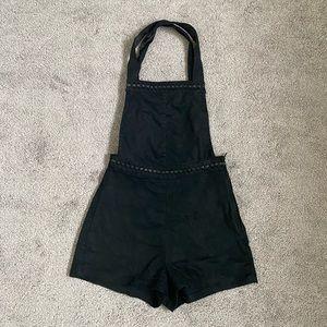 Peach skin Romper overall shorts